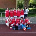 Fußballmädchenmannschaft kickte bei den Stadtmeisterschaften