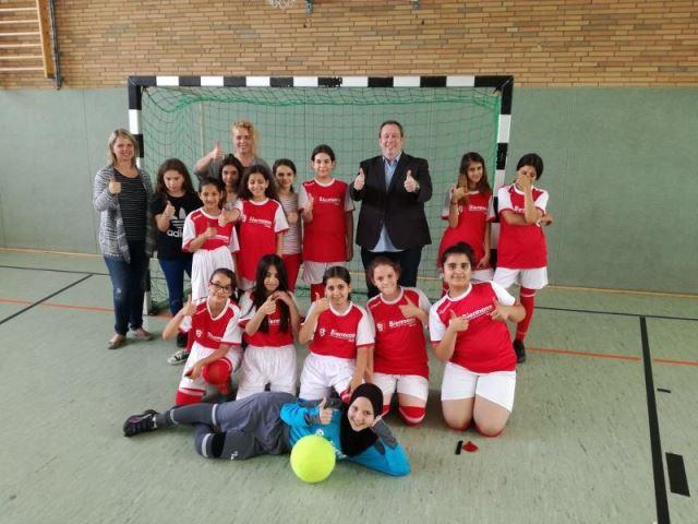 Mädchenfußballteam